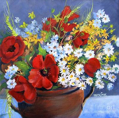 Poster featuring the painting Field Bouquet by Marta Styk