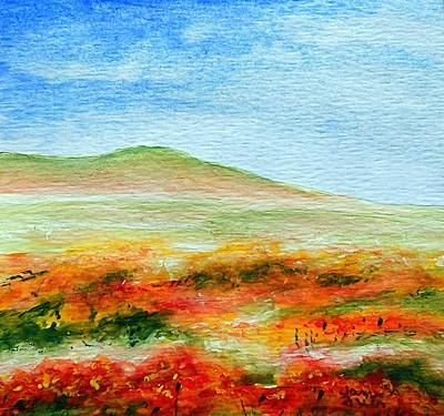 Poster featuring the painting Field Of Poppies by Jamie Frier