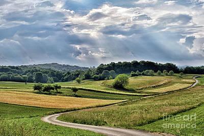 Fields Behind Cerina Poster
