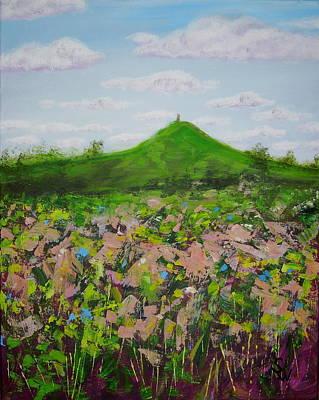 Fields To Glastonbury Tor Poster