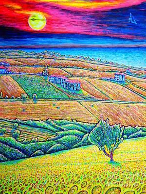Fields Poster by Viktor Lazarev