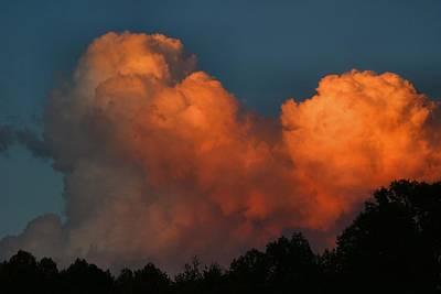 Fiery Cumulus Poster by Kathryn Meyer