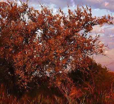 Fiery Elm Tree  Poster