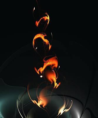 Fiery Flower Poster by Anastasiya Malakhova