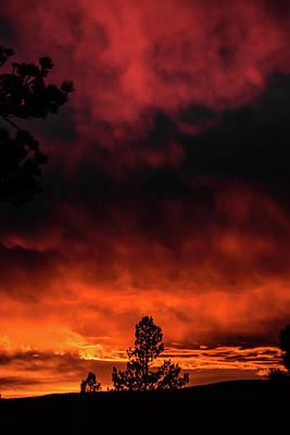 Fiery Sky Poster by Jason Coward