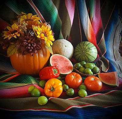 Fiesta Fall Harvest Poster by Marilyn Smith