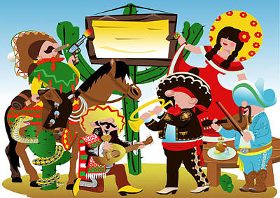 Fiesta Mexicana Poster by Stet Mihail Angelo
