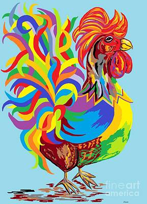 Fiesta Rooster Poster