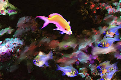 Fiesty Fish Poster