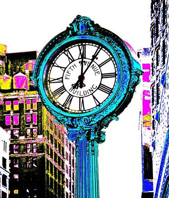 Fifth Avenue Building Clock New York  Poster by Marianna Mills