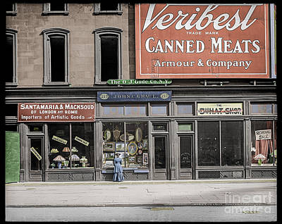 Fifth Avenue Colourised Poster by Russ Brown