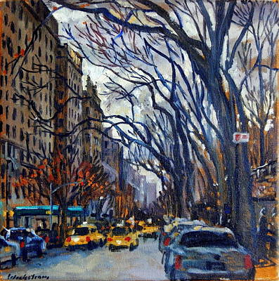 Fifth Avenue In November Poster by Thor Wickstrom