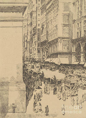Fifth Avenue, Noon, 1916  Poster