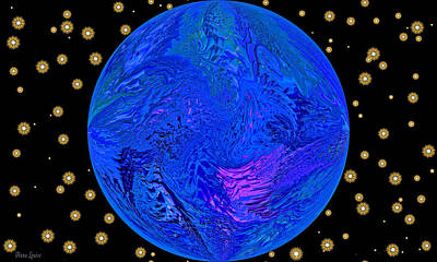 Fifth Dimension Earth Poster by Anna Louise