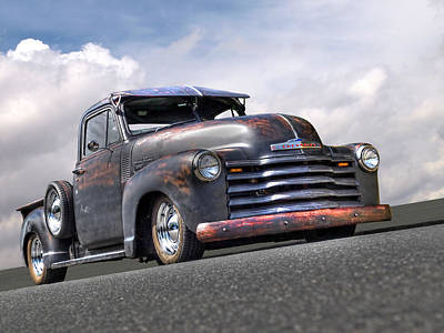 Fifties Rust - 1951 Chevy Poster