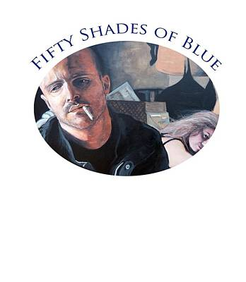 Poster featuring the painting Fifty Shades Of Blue by Tom Roderick