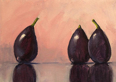 Figs Still Life Painting Poster by Nancy Merkle