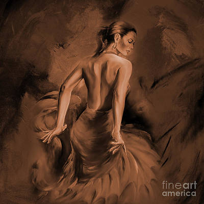 Poster featuring the painting Figurative Art 007dc by Gull G
