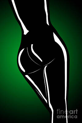 Figure In Green Poster by Tim Hightower