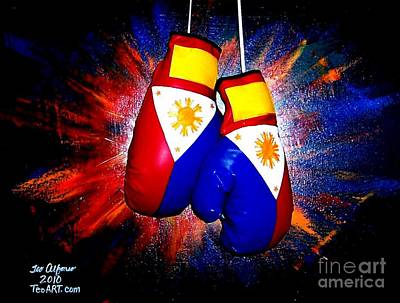 Filipino Boxer - Boxing From The Philippines Poster by Teo Alfonso