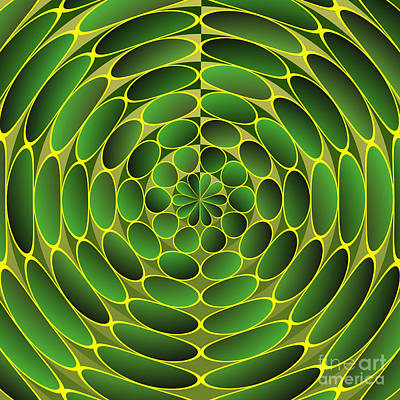 Filled Green Ellipses Poster