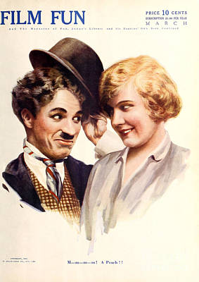 Film Fun Classic Comedy Magazine Featuring Charlie Chaplin And Girl 1916 Poster