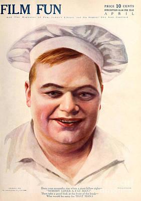 Film Fun Classic Comedy Magazine Roscoe Fatty Arbuckle 1916 Poster by R Muirhead Art