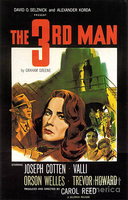 Film Noir Poster  The Third Man Poster by R Muirhead Art