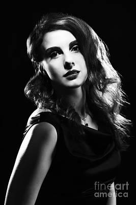 Film Noir Woman Poster by Amanda Elwell