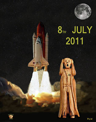 Final Shuttle Mission 8th July 2011 Poster by Eric Kempson
