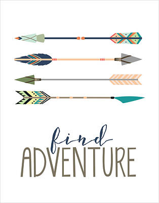 Find Adventure Poster by Jaime Friedman