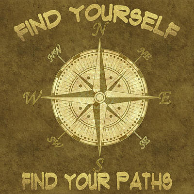 Poster featuring the painting Find Yourself Find Your Paths by Georgeta Blanaru