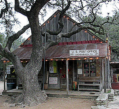 Fine Art America Pic 130 Luckenbach Texas Poster by Darrell Taylor