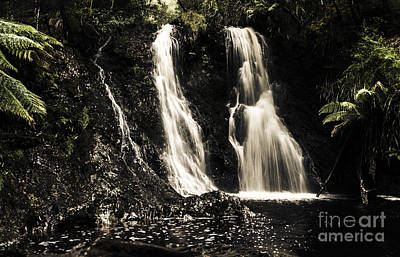 Fine Art Landscape Of A Rainforest Waterfall Poster