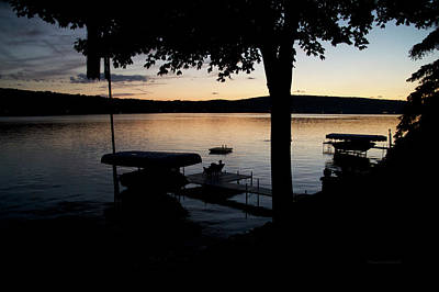 Finger Lakes New York Enjoying The Sunset 02 Poster by Thomas Woolworth