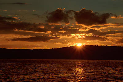 Finger Lakes New York Sunset 01 Poster by Thomas Woolworth