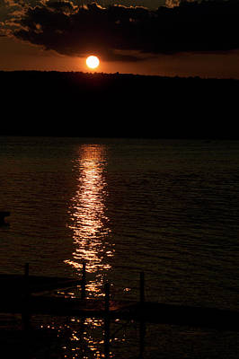 Finger Lakes New York Sunset 04 Vertical Poster by Thomas Woolworth