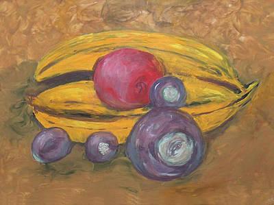 Fingerpainted Fruit Poster