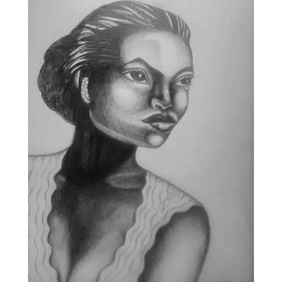 Finished My Eartha Kitt Portrait Poster