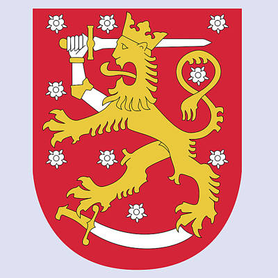 Poster featuring the drawing Finland Coat Of Arms by Movie Poster Prints