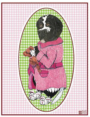 Finny's Pink Robe  Poster by Jenn Schmidt