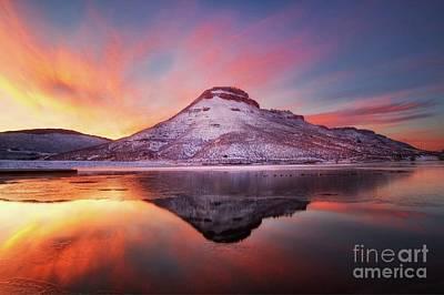 Fire And Ice - Flatiron Reservoir, Loveland Colorado Poster