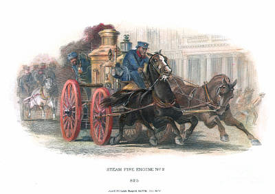 Fire Engine, C1870 Poster by Granger