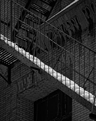 Fire Escape And Snow Poster by Robert Ullmann