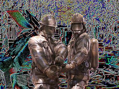 Fire Fighters Memorial Seattle Poster by Tim Allen