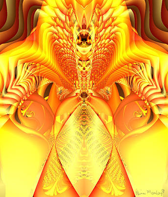 Fire Goddess Poster by Gina Lee Manley