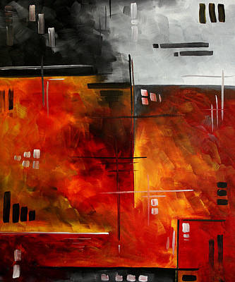 Fire Hazard Original Madart Painting Poster by Megan Duncanson