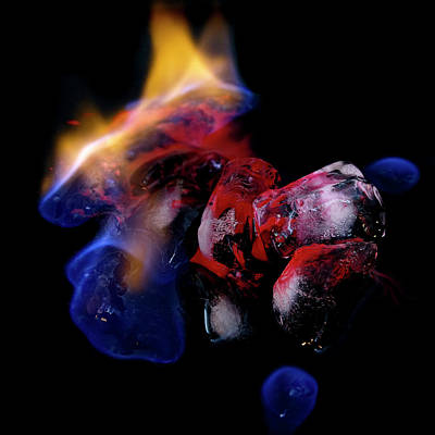 Poster featuring the photograph Fire, Ice And Water by Rico Besserdich