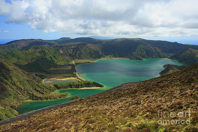 Fire Lake - Azores Islands Poster