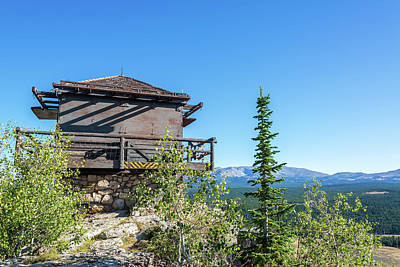 Fire Lookout Building Poster